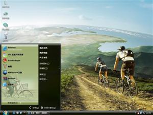 单车旅行电脑主题