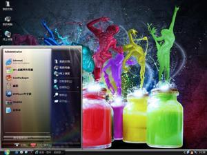 多彩精美涂鸦电脑主题