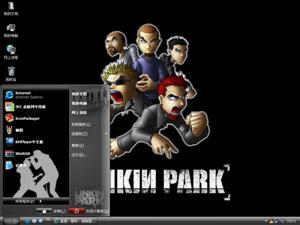 林肯公园(Linkin Park)卡通版电脑主题