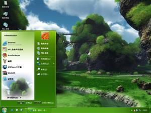 绿色石林电脑主题