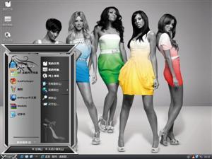 时尚美女电脑主题