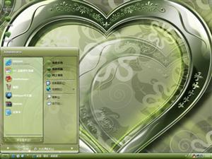 心形梳妆台电脑主题