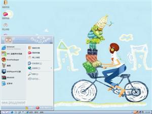 韩风卡通女孩电脑主题