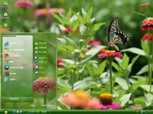 花园风景电脑主题