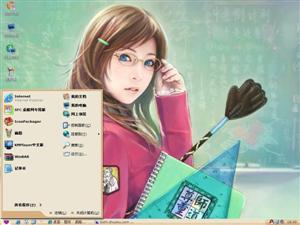 CG女孩插画电脑主题