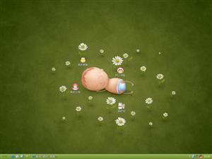 可爱小童电脑主题