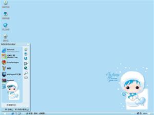 MRK可爱卡通女孩电脑主题