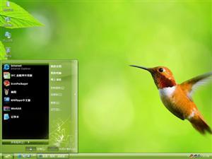 蜂鸟绿色清新电脑主题