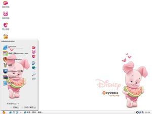 迪斯尼小猪电脑主题