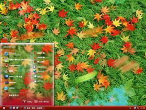 秋枫落叶电脑主题