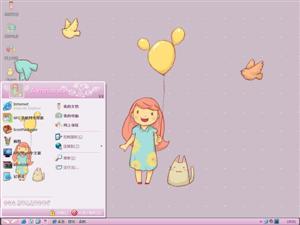 可爱的女孩(龙猫)电脑主题