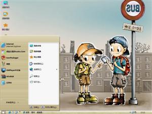 Haru韩国插画电脑主题