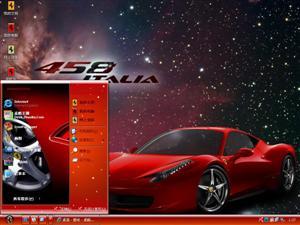 法拉利458 Italia电脑主题