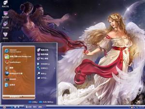 天使之爱电脑主题