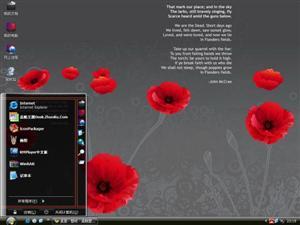 简洁花朵电脑主题