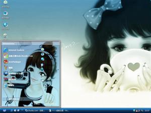 韩国唯美手绘少女电脑主题