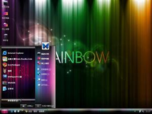 彩虹桌面电脑主题