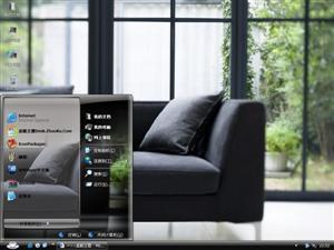 清新黑色客厅家居电脑主题
