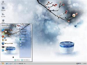 中国风青花瓷电脑主题