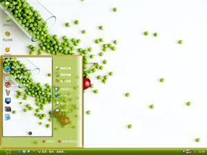 樱桃豌豆电脑主题