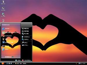 爱的手势电脑主题