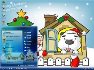 圣诞狗狗电脑主题