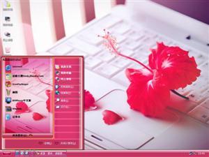 火红花朵电脑主题