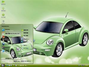 大众甲壳虫汽车电脑主题