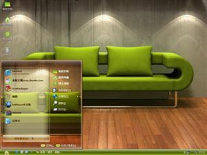 绿色清爽家具电脑主题