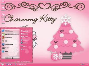 Hello Kitty过圣诞电脑主题
