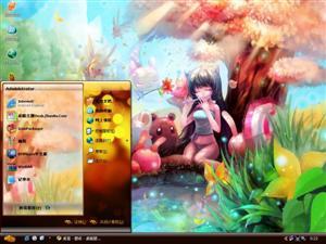 小狐的童话世界电脑主题