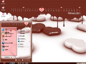 2011情人节电脑主题