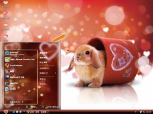 可爱的兔宝宝电脑主题