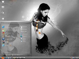 靓丽美女电脑主题