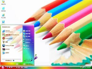 彩色铅笔电脑主题