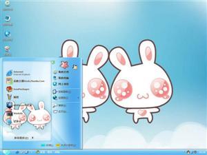 与兔相伴电脑主题