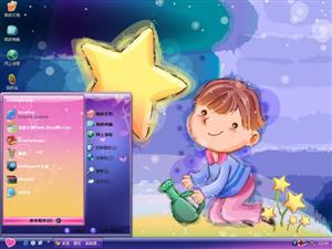 可爱小男孩电脑主题