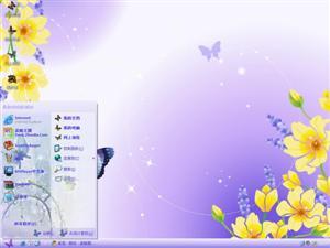 蝴蝶花电脑主题