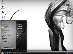 潮流黑色烟幕电脑主题