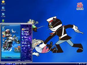 黑猫警长卡通电脑主题