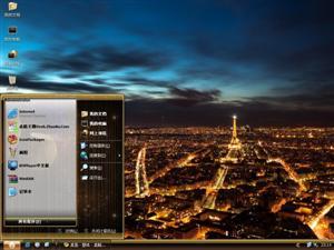 巴黎夜景电脑主题