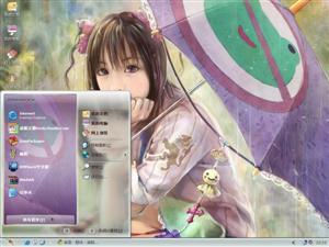 可爱CG女孩电脑主题