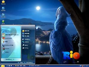 愤怒的小鸟RIO电脑主题