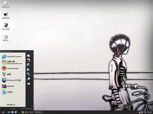 孤独的女孩电脑主题