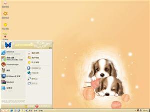 两只小狗电脑主题