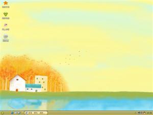 四季卡通景色电脑主题
