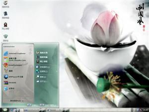 中国风莲花电脑主题