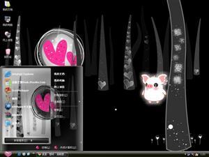 可爱黑白猪电脑主题