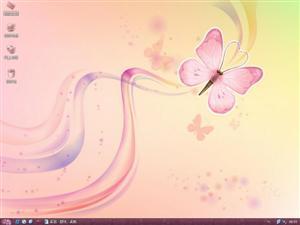 红粉蝴蝶电脑主题