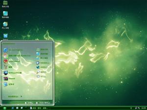绿色星辰电脑主题